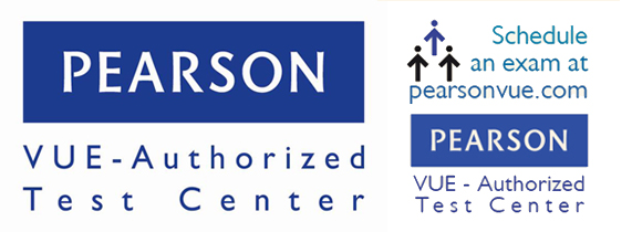 Pearson VUE Authorized Test Center logo combined-US